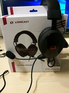 Lioncast LX50 Gaming Headset mit Verpackung